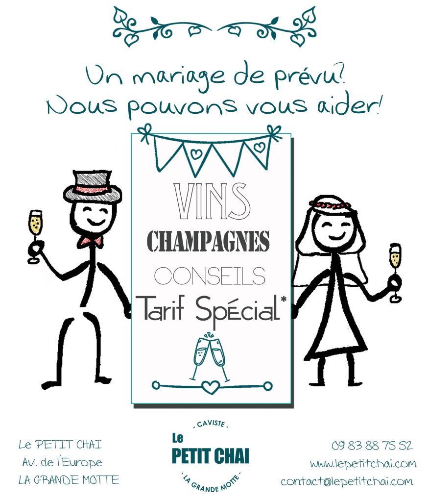 mariage le petit chai caviste cave vin vins champagne service evenements wedding organisation particuliers