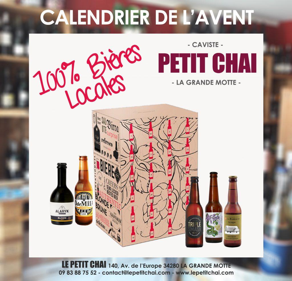 calendrier de avent le petit chai caviste la grande motte cave vins bieres artisanales locales languedoc roussillon occitanie montpellier hérault gard alaryk zoobrew barbaude meduz noel