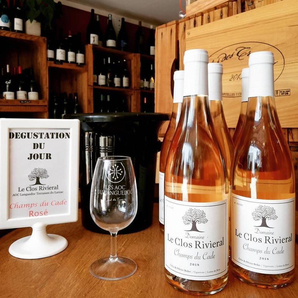 nouveautés la grande motte vins caviste le petit chai cave vins clos rivieral languedoc terrasses du larzac rosé vente