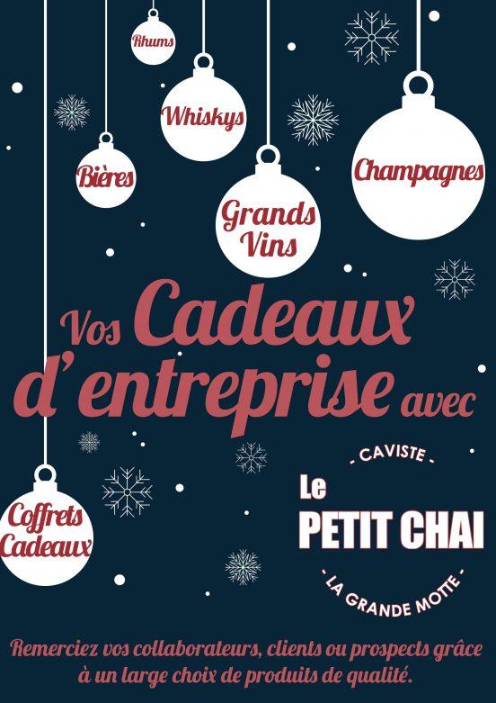 cadeau entreprise noel le petit chai caviste la grande motte coffret panier client collaborateur prospect montpellier vin champagne rhum whisky le grau du roi carnon