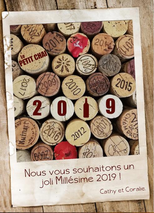 voeux 2019 le petit chai la grande motte caviste bonne année cave a vin languedoc roussillon bieres champagne rhums whiskys gin