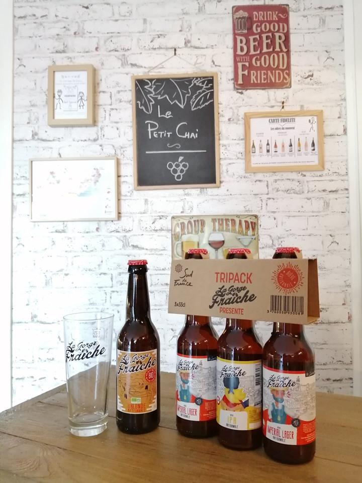 nouveautés le petit chai la grande motte caviste cave a vin bières gorge fraiche artisanales brasserie