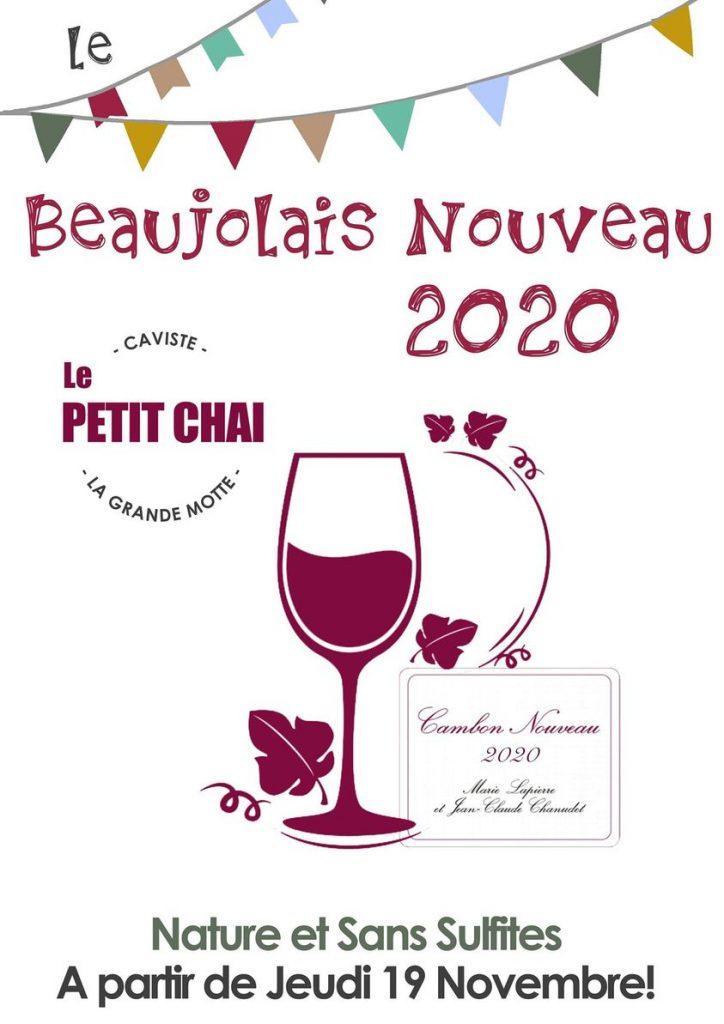 beaujolais nouveau 2020 cambon lapierre chanudet nature bio caviste la grande motte le petit chai cave vin bieres champagne whisky rhum