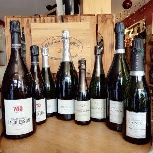 champagnes brut rosé sans sulfites nature bio caviste la grande motte ruinart jacquesson le petit chai cave vin